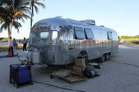 An RV parked in Miami