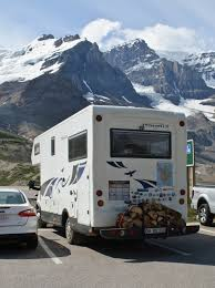 An Rv parked near the rockies in Denver