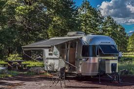 Camping in a camper trailer near SF