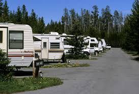 RVs camping at Yellowstone