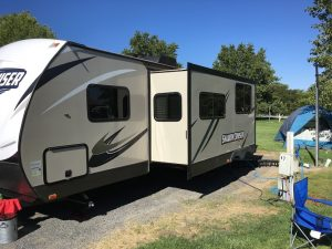 RV Camping With A Tent