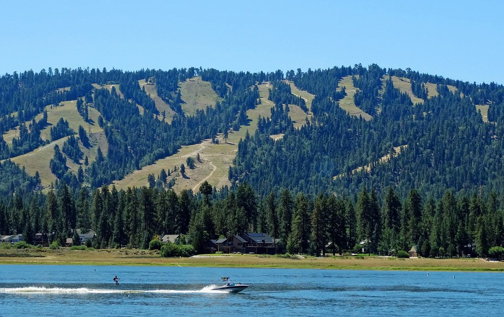 Water Skiing on Big Bear Lake