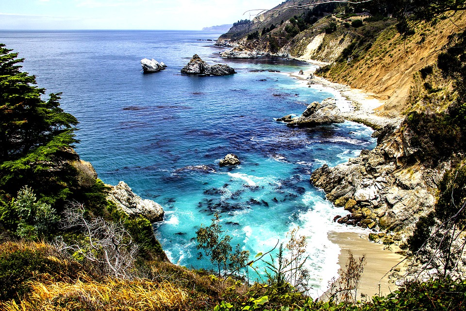 The Pacific Ocean At Big Sur