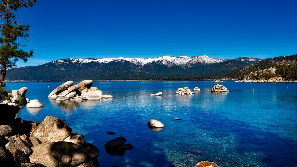 Water and Mountains at Lake Tahoe