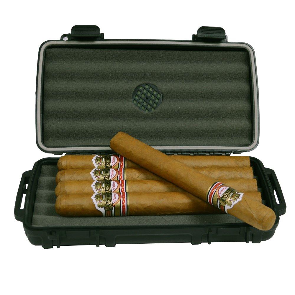 Cigar Caddy travel Humidor with cigars