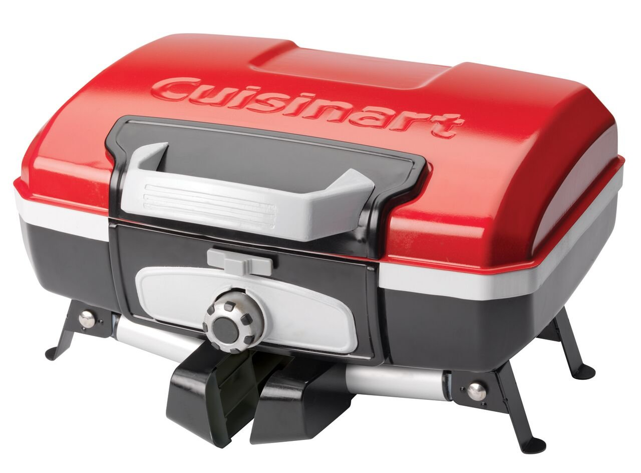 Folded up Cuisinart CGG Portable Grill