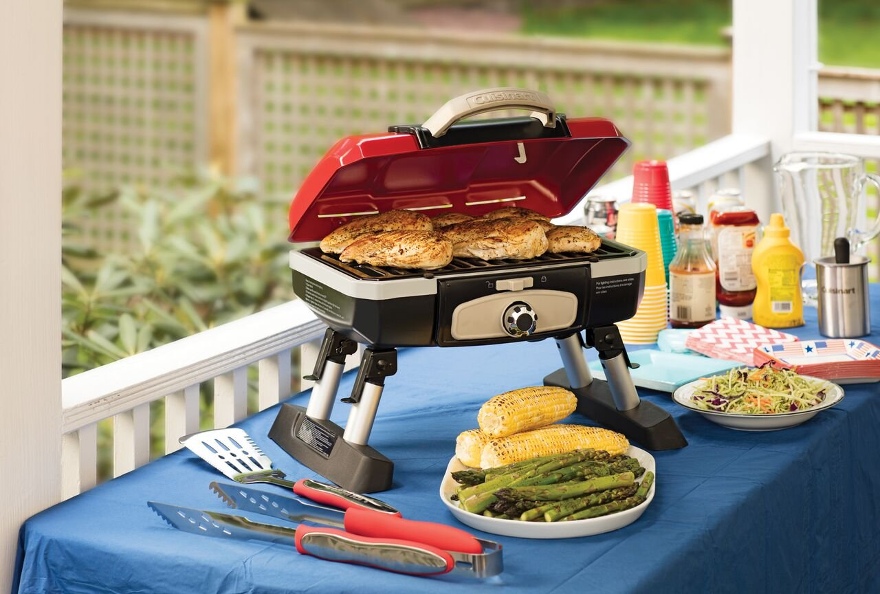 Cuisinart Portable Grill On A Table