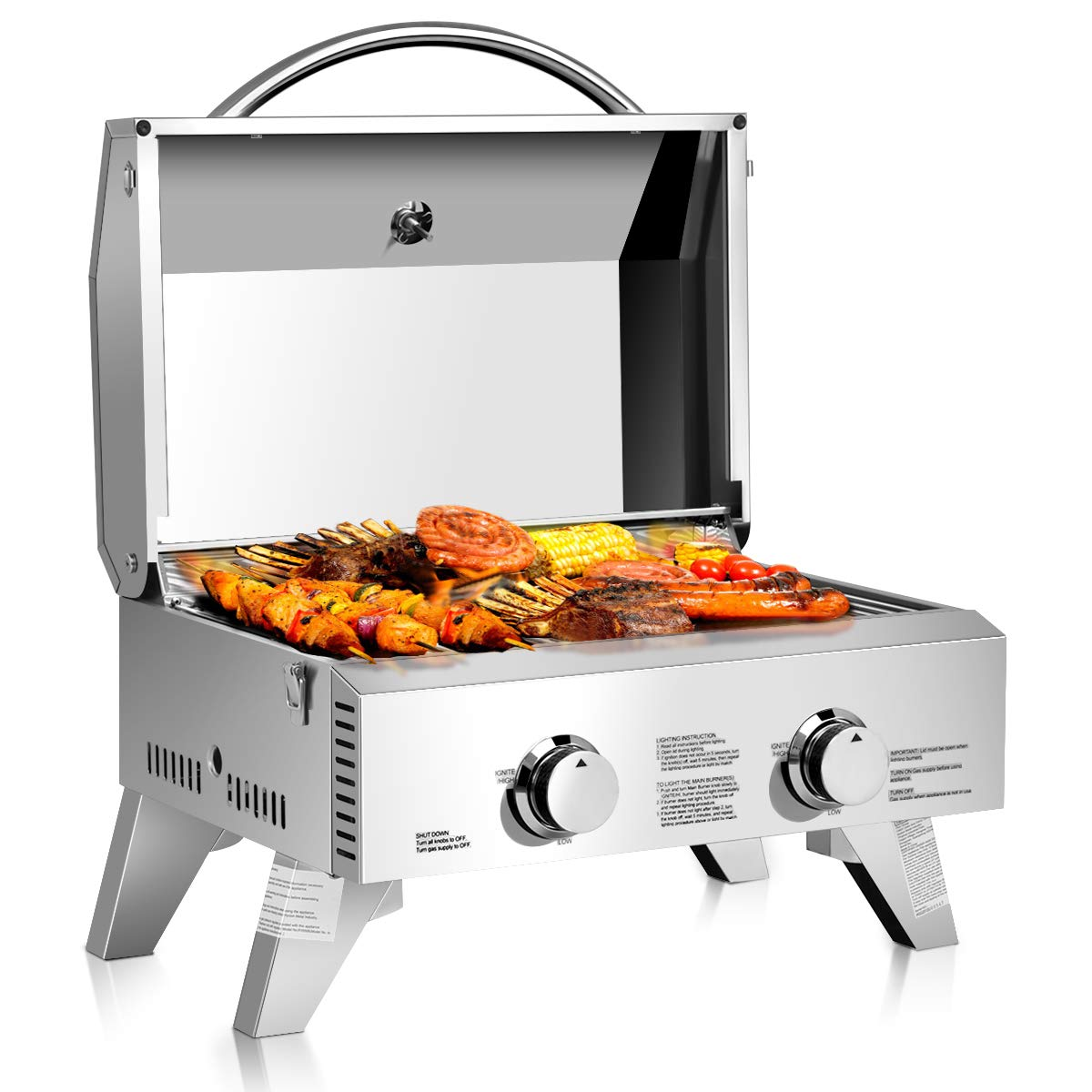 Giantex Travel Grill cooking food
