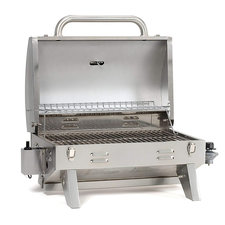 An Open Smoke Hollow Portable Grill