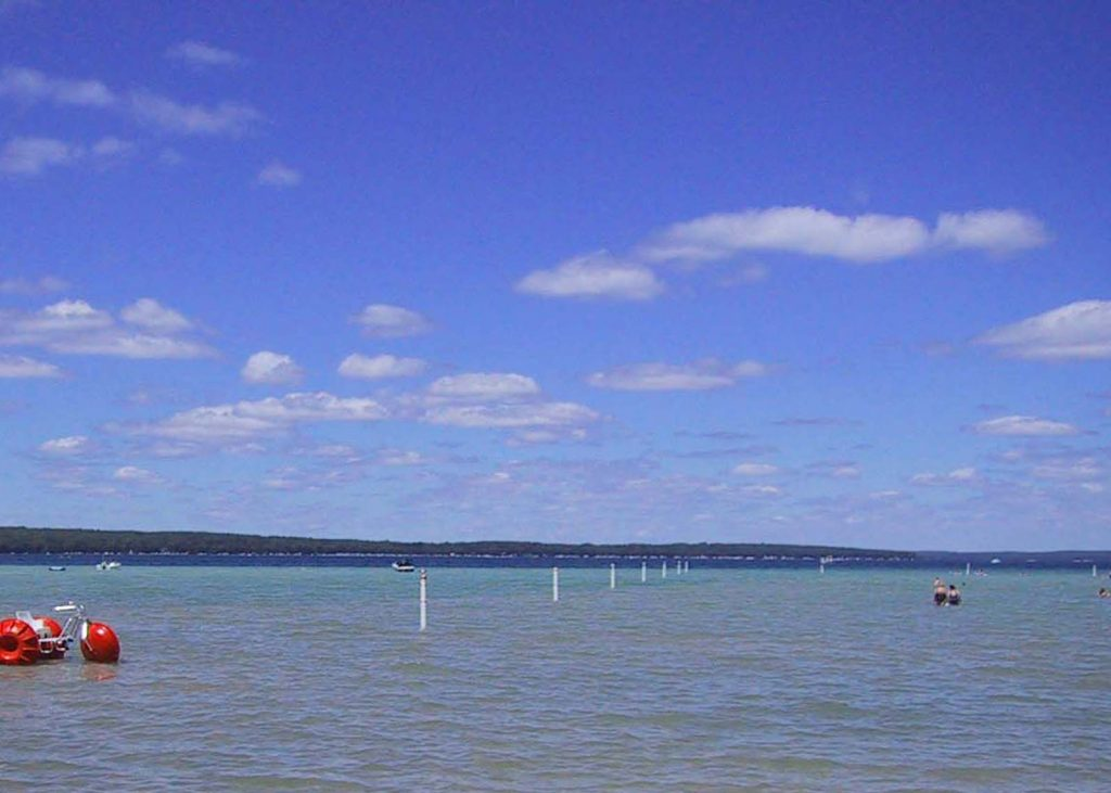 Water activities at Higgins Lake