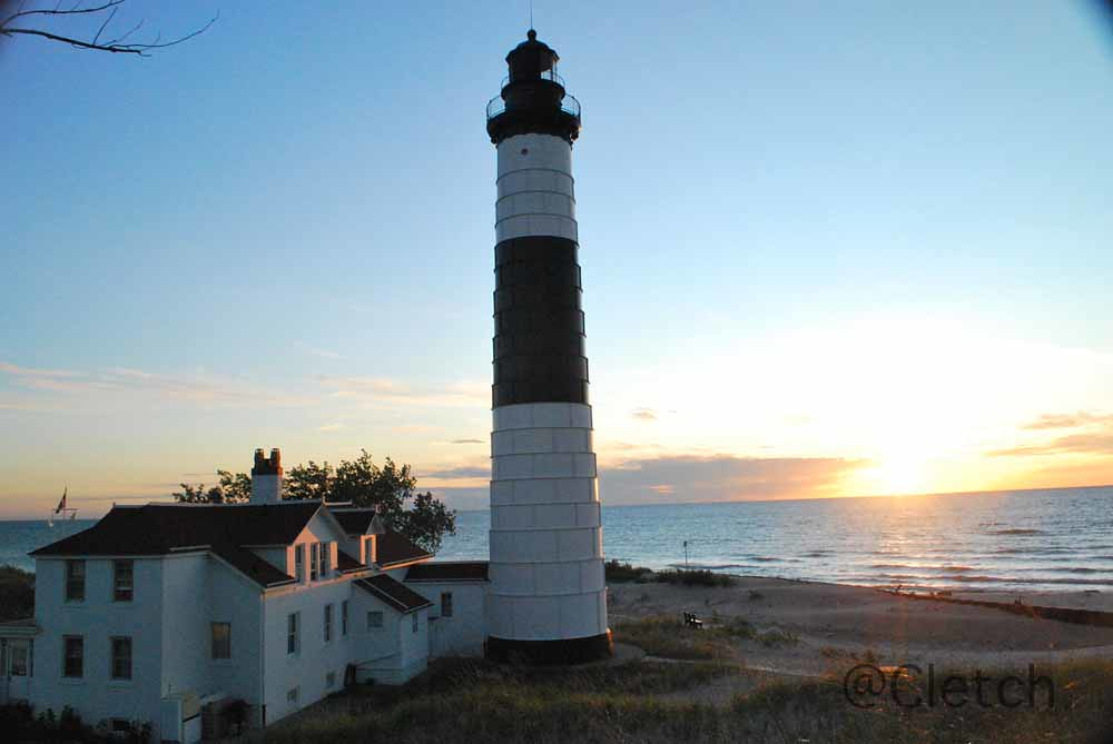 Light House At Ludington State Park