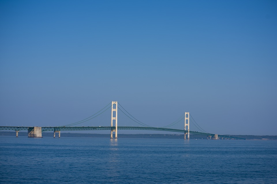 View of Mackinaw Bridge