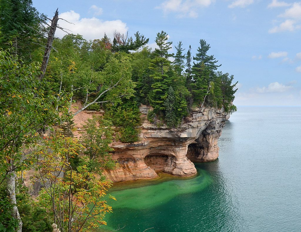 Cliff at Pictured Rocks