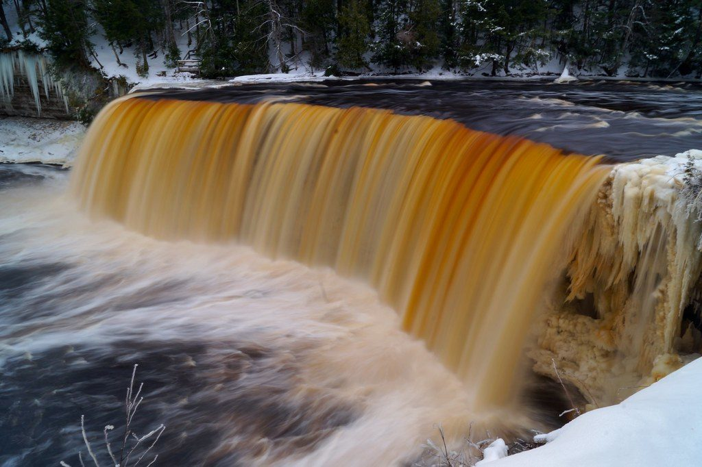 Waterfalls At Tahquamenon Falls State Park