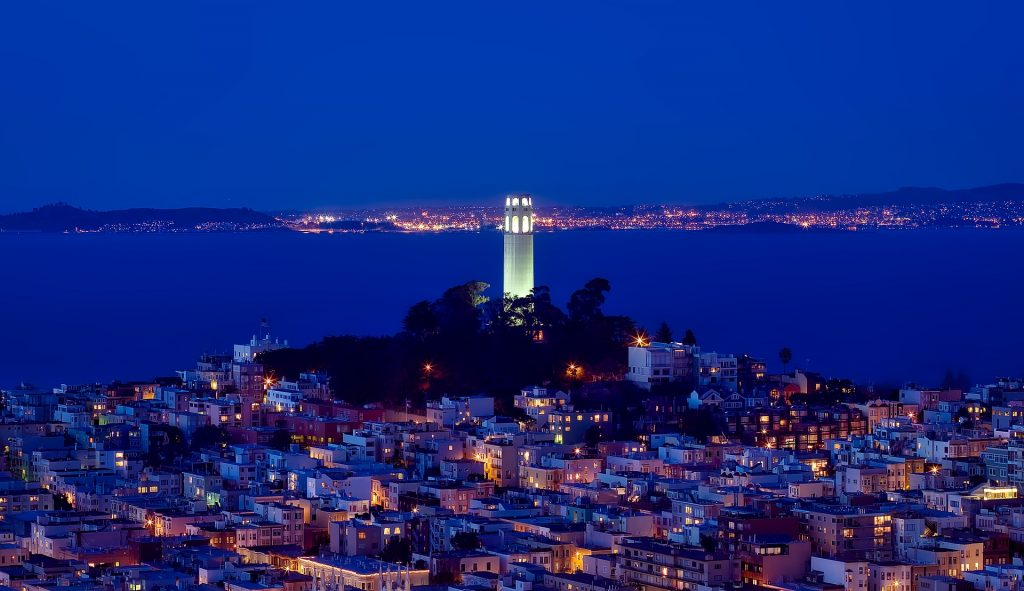 View of San Francisco and Coit Tower