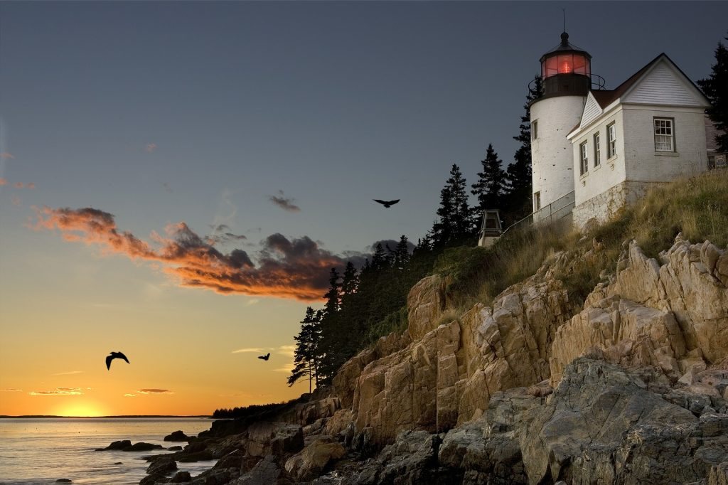 Lighthouse at Bar Harbor Maine