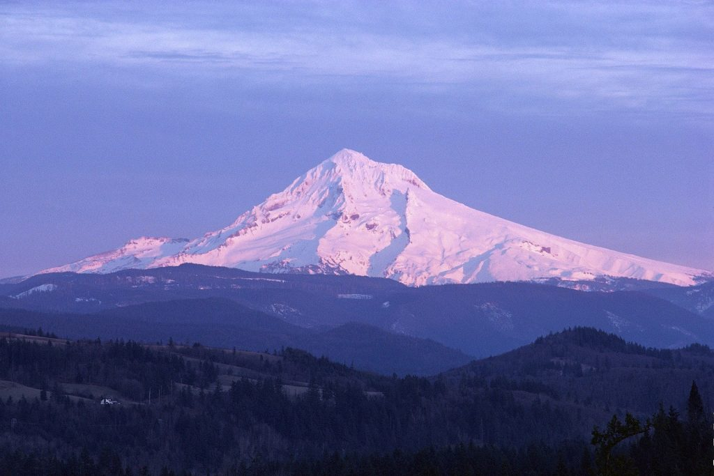 Mount Hood at a distance